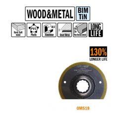87 mm Bi-metaal TIN radial-zaagbl. voor hout en metaal 1st. (SuperCut)