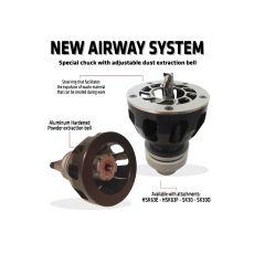Airway systeem voor frezen t/m schacht Ø16 mm.  HSK63F
