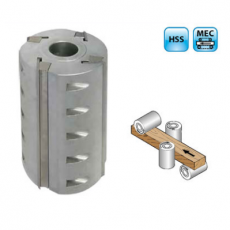 Aluminium schaafkop z=4, MEC