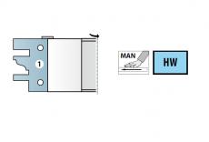 HMWP profiel/contrafrees Ø 140 x 40 x 40  z=2 (incl. 4 sets messen)