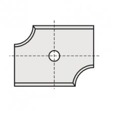 Wisselmessen 20 x 16 x 2 mm. R=3  Links