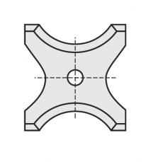 Wisselmessen 20 x 21 x 2 mm.  R= 6