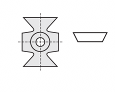 Kantenbreker 16 x 22 x 5 mm.  45º