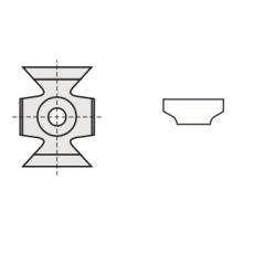 Kantenbreker 16 x 22 x 5 mm.  R=5