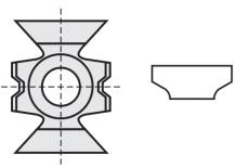 Kantenbreker 15 x 20 x 9 mm.  R=3