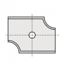 Wisselmessen 20 x 16 x 2 mm. R= 3  Rechts
