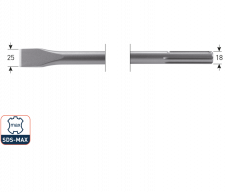 SDS-max platte beitel 25x400mm