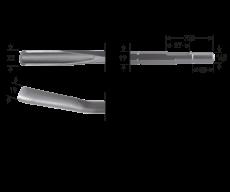 6-kant 19/16,5x35 gutsbeitel, 22x250mm
