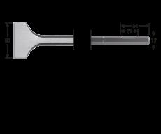 6-kant 19 met uitsparing, spadebeitel, 80x350mm