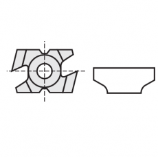 Kantenbreker 15 x 23 x 9 mm. R=3