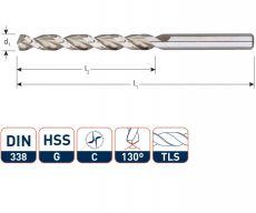 HSS-G Houtspiraalboor voor hardhout, type TLS, in box (10st.)
