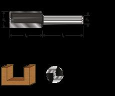 Hm groeffrees Ø 16 x 50/82 mm. z= 2+1