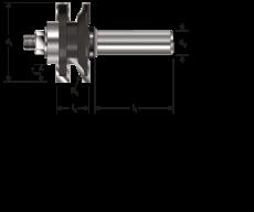 HM profiel- contraprofielfrees Ø 41 mm., S=Ø12