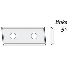 Wisselmessen 28,3 x 12 x 1,5 mm. HC05 z=4  5º links