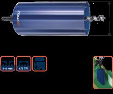 Bi-metaal dakdoorvoerboor Ø 130 x 300 mm.  4-6 tpi
