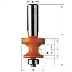 Hm halfronde frees Ø 25,4 mm.  R= 4,75 (met lager)