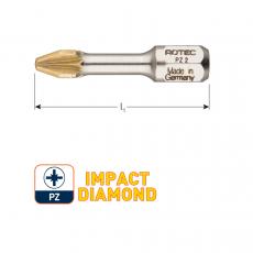IMPACT bit PZ2 L30mm (Pozi), Diamond (10st.)