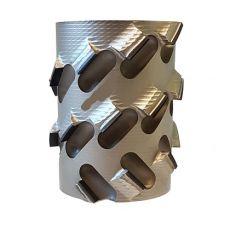Diamantfrees Ø100 x 48/40,6 x Ø25mm. Z=2+2  30ºaxiaal (staal)