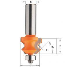 Hm kraalprofielfrees Ø 23,8 mm.  R=4 (met lager)