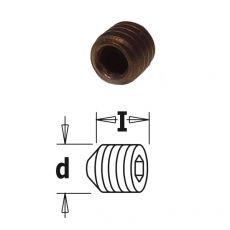 Inbusbout met conisch drukvlak M4 x 5 mm.