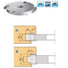 Wisselmes freeskop voor voorplaten van Meerpuntssluitingen Ø160 mm. MAN