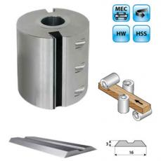 Aluminium schaafkop Ø140mm met HSS centrolock messen, asgat Ø50, MEC
