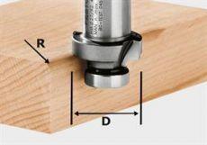 Hm afrondfrees Ø 27 mm.  R= 4  Festool