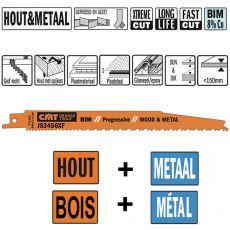 Bi-metaal reciprozaagblad 200 x 19 mm. 6-12tpi (5 stuks)
