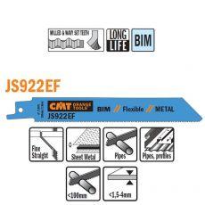 Bi-metaal reciprozaagblad 150 x 0,9 mm. 18tpi  (5 stuks)