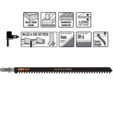 Decoupeerzagen HCS 155 x 180 mm. 6tpi (hout/recht/grof)