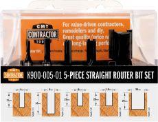 Set van 5 CMT Contractor frezen in pvc kistje