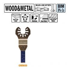 10 mm. Bi-metaal multitool voor hout en metaal (Universeel)