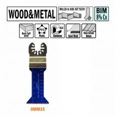 42mm multitool voor in hout en metaal (universeel)