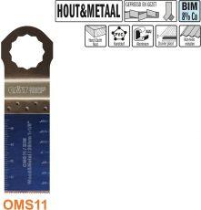 28 mm. Bi-metaal multitool voor hout en metaal (SuperCut)