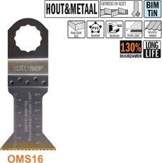 45 mm. Bi-metaal TIN multitool voor hout en metaal (SuperCut)