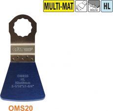 52 mm. Flexibele schraper voor alle materialen (SuperCut)
