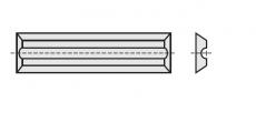 Wisselmessen 20 x 5,5 x 1,1 mm. MG06  z= 4