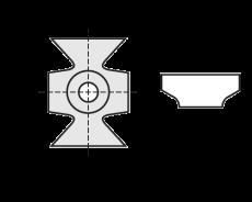 Kantenbreker 16 x 22 x 5 mm. R=1,5