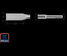 SDS+ tandbeitel 22x250mm