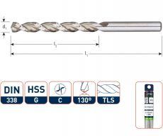HSS-G Houtspiraalboor voor hardhout, type TLS, in koker (per stuk)