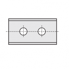 Wisselmessen 50 x 12 x 1,5 mm. HC05