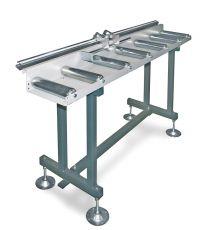 Metallkraft rollenbaan met analoog meetsysteem en aanslag