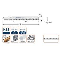 Decoupeerzagen 92x8x1,25mm. voor plexiglas en corian (5st.)