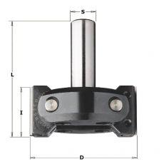 HMWP verstelbare afschuinfrees Ø 85x40/92 mm. S=Ø20 mm.