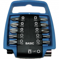 11 delige BASIC bitclip set