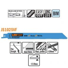 Bi-metaal reciprozaagblad 200 x 1,25 mm. 10-14tpi  (5 stuk)