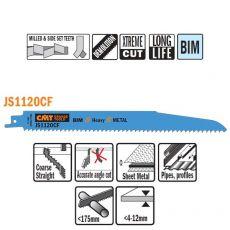 Bi-metaal reciprozaagblad 225 x 1,6 mm. 9tpi  (20 stuks)