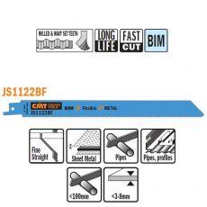 Bi-metaal reciprozaagblad 225 x 0,9 mm. 14tpi  (5 stuks)