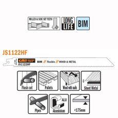 Bi-metaal reciprozaagblad 225 x 0,9 mm. 10tpi  (5 stuks)