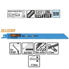 Bi-metaal reciprozaagblad 225/205 x 19 mm. 10-14tpi (5 stuks)